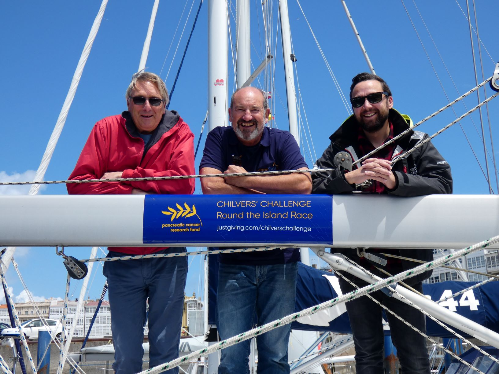 David Harper, John Digby and Paul Stewart on board the Saffron Star.