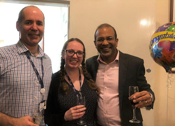 Prof Richard Grose, Dr Abigail Coetzee and Prof Hemant Kocher