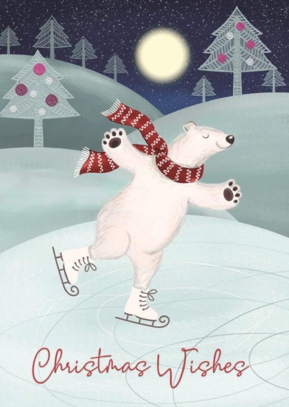 PCRF Polar Bear Skating Card