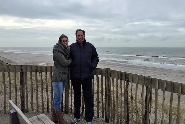 Claudia Talsma and her dad, Tjeerd