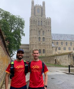 Monty and Tahir at Ely Cathedral starting point