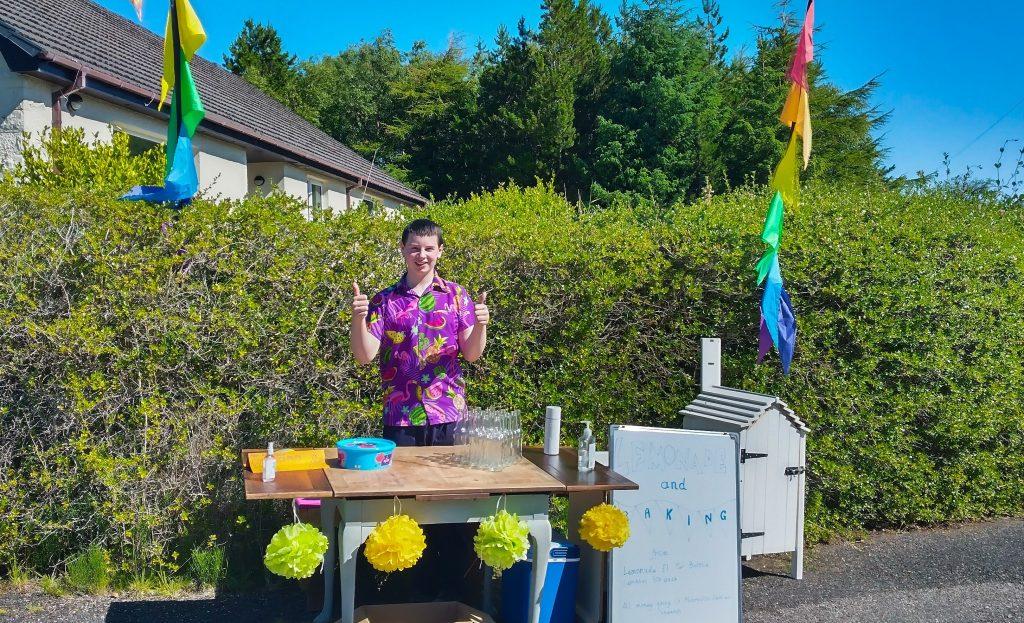 Joshua Taylor's lemonade stall