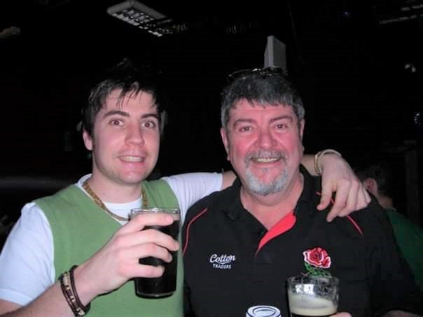 Barry Sullivan with his Dad Michael